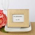 Petit cadre doré marque table mariage