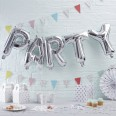 """Guirlande Ballons """" Party """" argent silver"""
