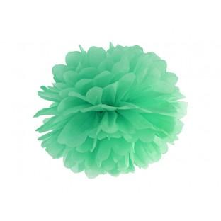 Le pompon en papier vert menthe clair 35cm