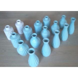 Location vases bouteilles céramique bleu