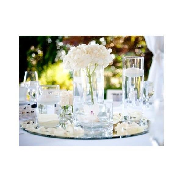 Location grand miroir de table rond 35 cm vases photophores creative emotions - Miroir centre de table ...