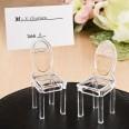 Marque place mini chaise transparente