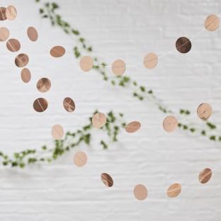 """Guirlande or rose cuivré ronds confettis """"rose gold"""""""