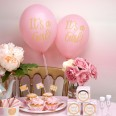"8 ballons 'It's a girl"" rose et or"