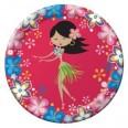 Assiettes anniversaire Hula girl (x8)