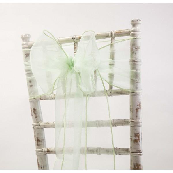 noeud de chaise organza vert d 39 eau menthe mint housses. Black Bedroom Furniture Sets. Home Design Ideas
