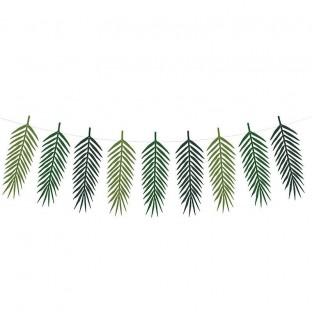 Guirlande de feuilles tropicales 1M25