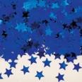 Confettis en forme d'étoile, bleu roi
