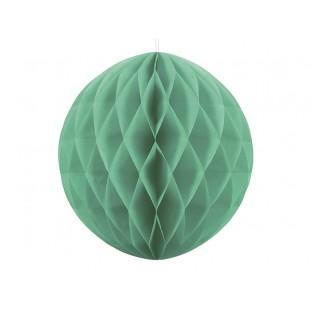 Boule Alvéolée en papier Vert Pastel 40cm