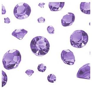 Perles Diamant de table mauve lilas mix 6-12mm