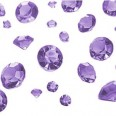 Perles Diamant de table mauve lilas