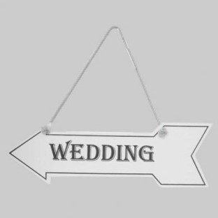 White Hanging Arrow Wedding