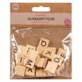 30 lettres alphabet en bois style scrabble mariage