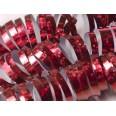 18 rouleaux Serpentins Holographiques Brillants rouge