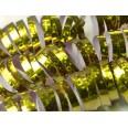 18 rouleaux Serpentins Holographiques Brillants doré