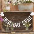 "Guirlande ""Best Day Ever"" mariage rustique 1M50"