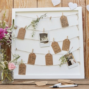 Cadre à messages Mariage Rustique et Champêtre