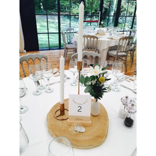 location bougeoir chandelier cuivre rose gold h30cm vases photophores creative emotions. Black Bedroom Furniture Sets. Home Design Ideas