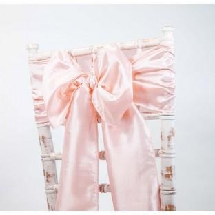 Location noeud de chaise rose blush poudré taffetas