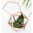 Terrarium cuivré rose gold boîte porte alliances