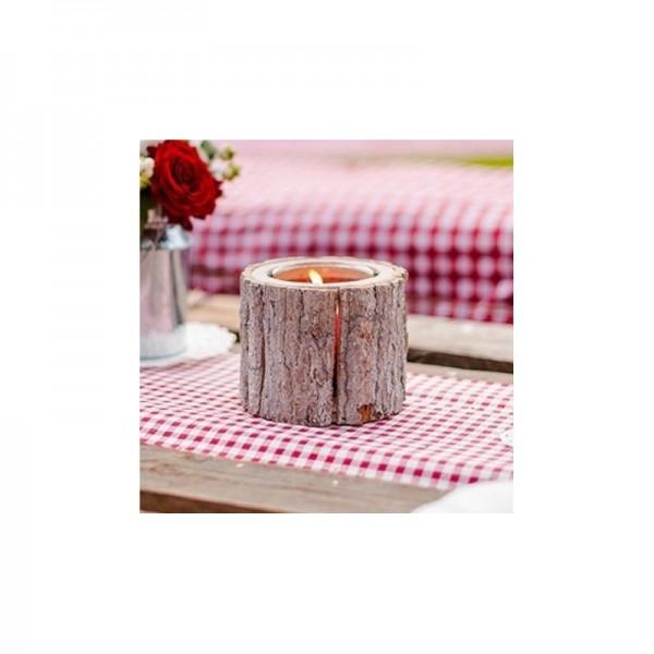 rondin de bois vase bougeoir centre de table centre de. Black Bedroom Furniture Sets. Home Design Ideas