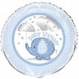 Ballon Alu baby shower Bleu éléphant 46 cm