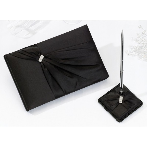 livre d 39 or satin noir boucle strass diamant livre d 39 or et stylo creative emotions. Black Bedroom Furniture Sets. Home Design Ideas