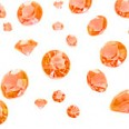 Perles Diamant de table confettis orange mix 6-12mm