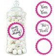Candy Buffet Bright Pink Candy Labels
