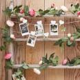 Guirlande de fleurs artificielles roses et fuchsia