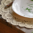 10 sets de table napperons papier kraft doilies