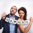Petite guirlande mariage Mr Mrs coeur flèche