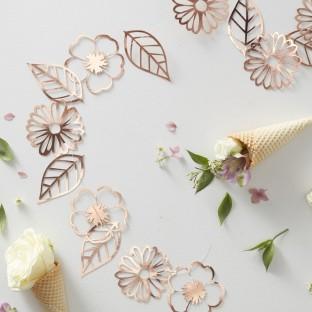 Guirlande de fleurs rose gold cuivré