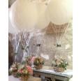 Filet montgolfière blanc pour ballon géant