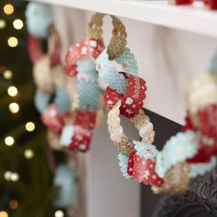 Guirlande Noël Pain d'épices chaîne de papier 10M
