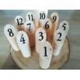 Location 12 numéros de table rondin de bois naturel
