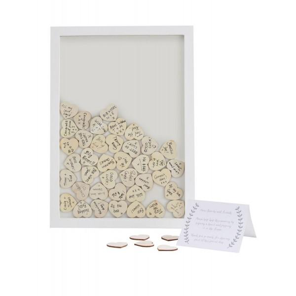 cadre livre d 39 or original et coeur en bois livre d 39 or et. Black Bedroom Furniture Sets. Home Design Ideas