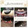 Plaque voiture Just Married doré mariage