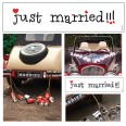Plaque voiture Just Married comique mariage