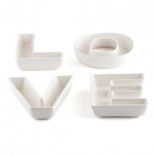 LOCATION lettres LOVE plateau porcelaine