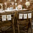 Guirlande Mr Mrs mariage shabby love