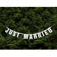 "Guirlande mariage banderole ""Just Married"" pailleté"