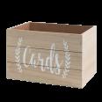 """Location boite en bois """"CARDS"""" voeux mariage ou urne"""
