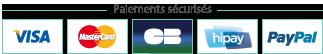 Hipay - Paypal - Visa - MasterCard - CB - Belfius - ING